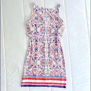 Vince Camuto Paisley Layered Shift Dress size 8